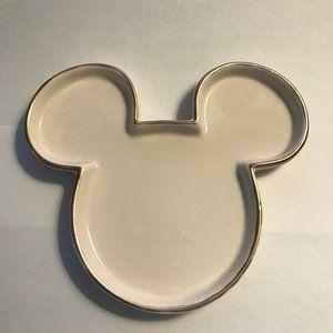 Disney New Mickey Gold Trim Trinket Dish